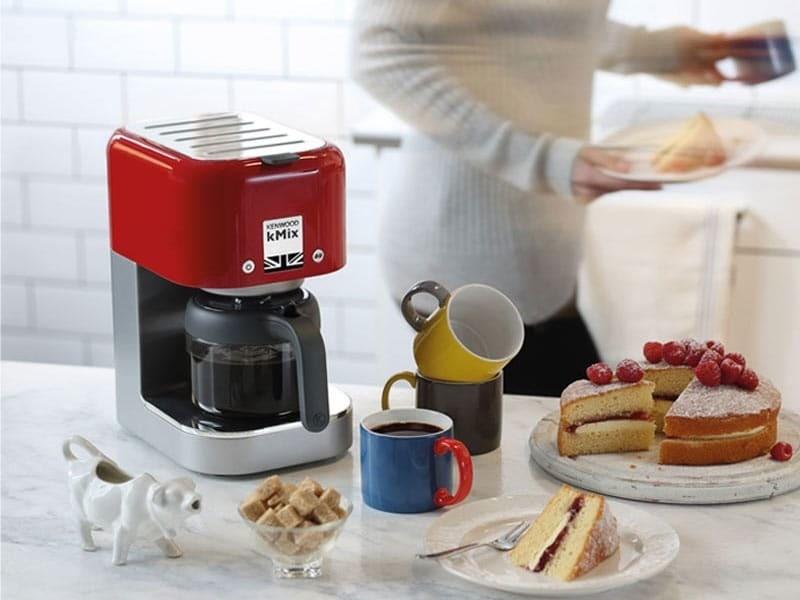 Cafetière électrique de 0,75l pour 6 tasses 1200w rouge