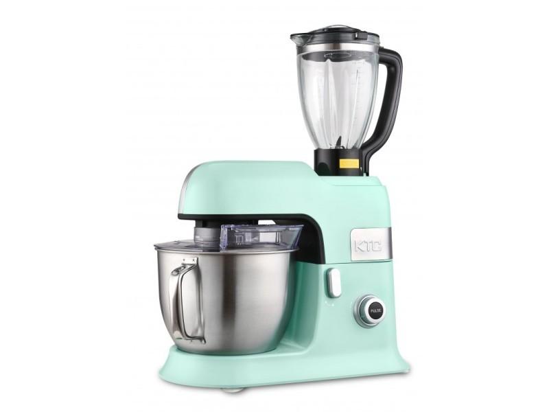 Robot petrin 6.5l kitchencook avec blender sécurise et accessoires en téflon expert_xl vert
