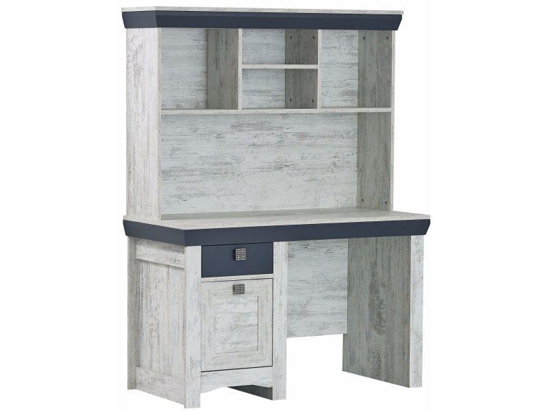 Bureau moderne cm avec tiroir porte et étagères coloris