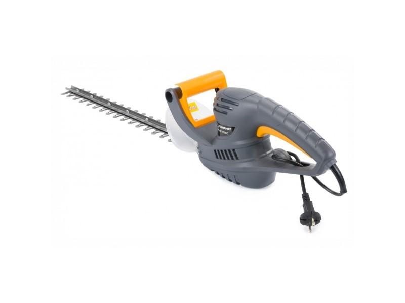 Power tool | taille haie électrique 1500w | longueur de coupe 450 mm | course des couteaux 16 mm | outil entretien jardin - gris
