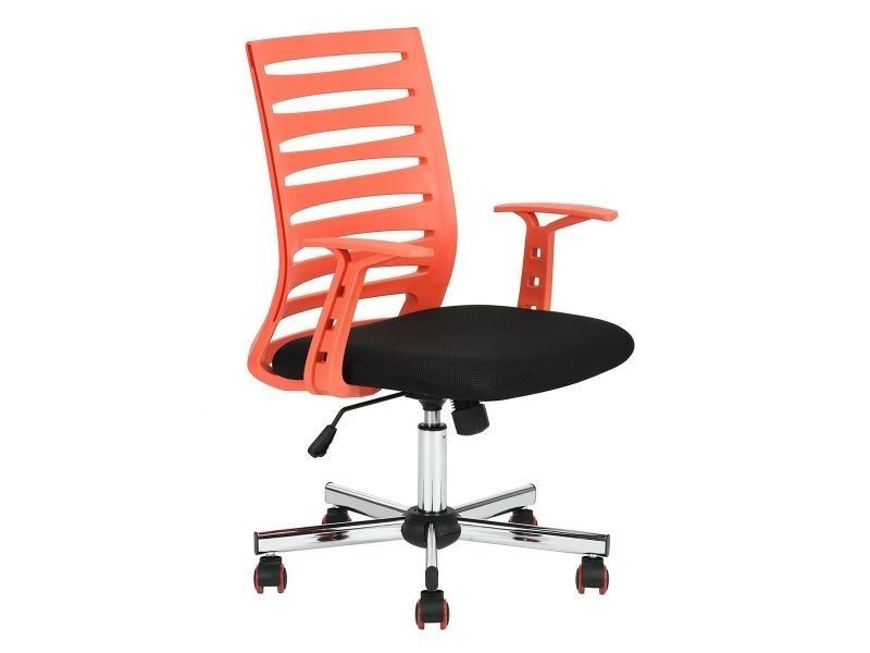 Odan fauteuil de bureau rouge et noir vente de altobuy conforama