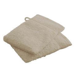 Gants de toilette mastic 100% coton
