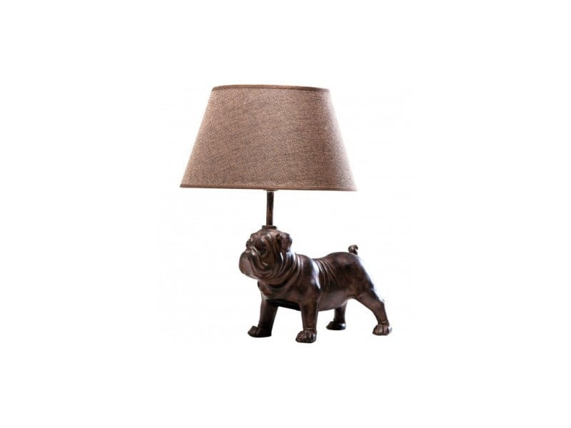 Lampe De Table Chien Bouledogue Marron Mops Vente De Kare Design