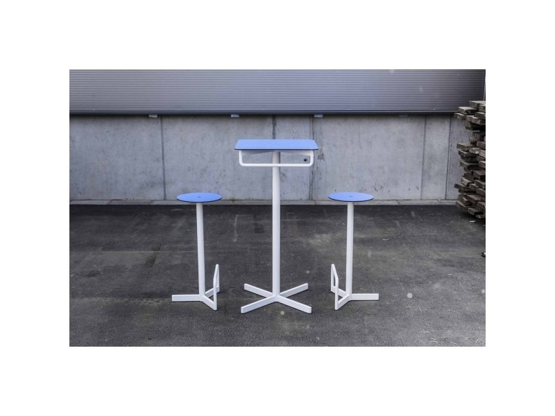Ensemble de bar egoe table haute et 2 tabourets bistrot bar