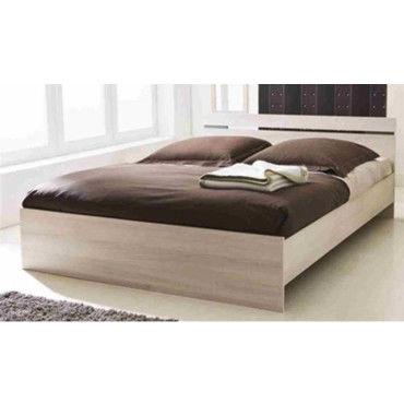 lit adulte en bois coloris acacia et basalte 194 7 x 143 8 x 66 7 cm pegane vente de lit. Black Bedroom Furniture Sets. Home Design Ideas