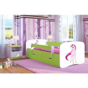 lit enfant licorne 70 cm x 140 cm avec barriere de. Black Bedroom Furniture Sets. Home Design Ideas