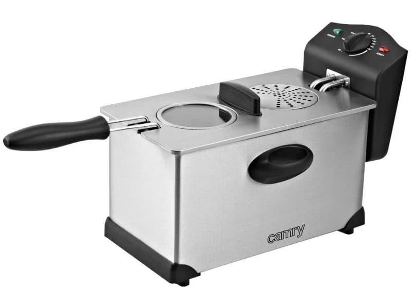 Friteuse électrique de 3l 2000w gris noir