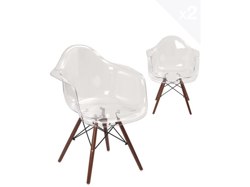 4613774ffe5f28 Kayelles chaises scandinave transparente nepal - lot de 2 chaises salle a  manger 825 - Vente de Chaise - Conforama
