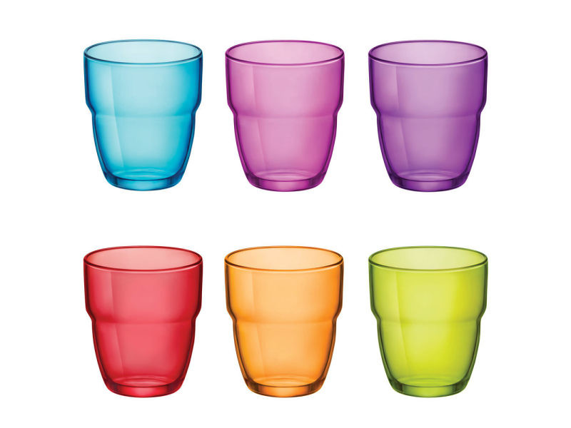 Bormioli - gobelet 30 cl modulo empilable coloris assortis (lot de 6)