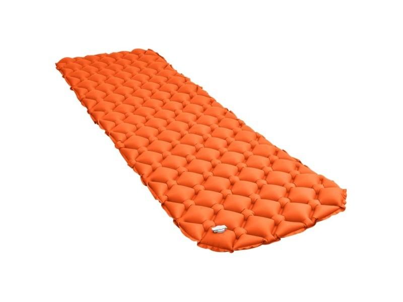 Superbe camping et randonnée reference bakou matelas gonflable 58x190 cm orange