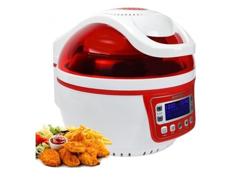 Friteuse à air chaud turbo avec écran led 10l max. 250 ° rouge