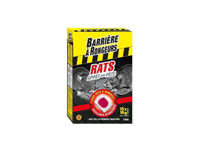 Appât sur pâte pour rats - spécial lieux secs et humides - 150 g BARAPAT150