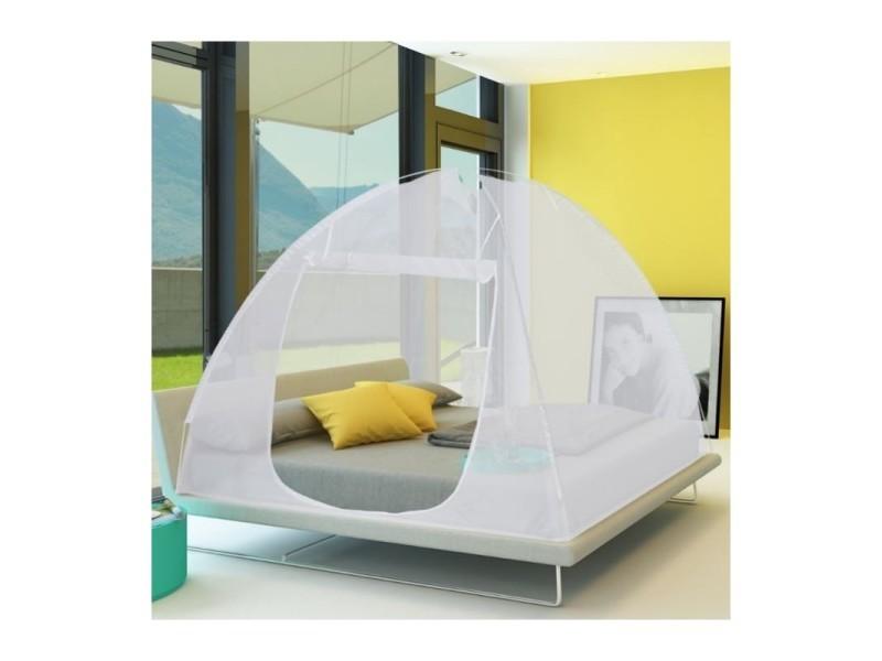 Moustiquaire dôme pop-up grandes dimensions 195x180 cm mobile pour lit