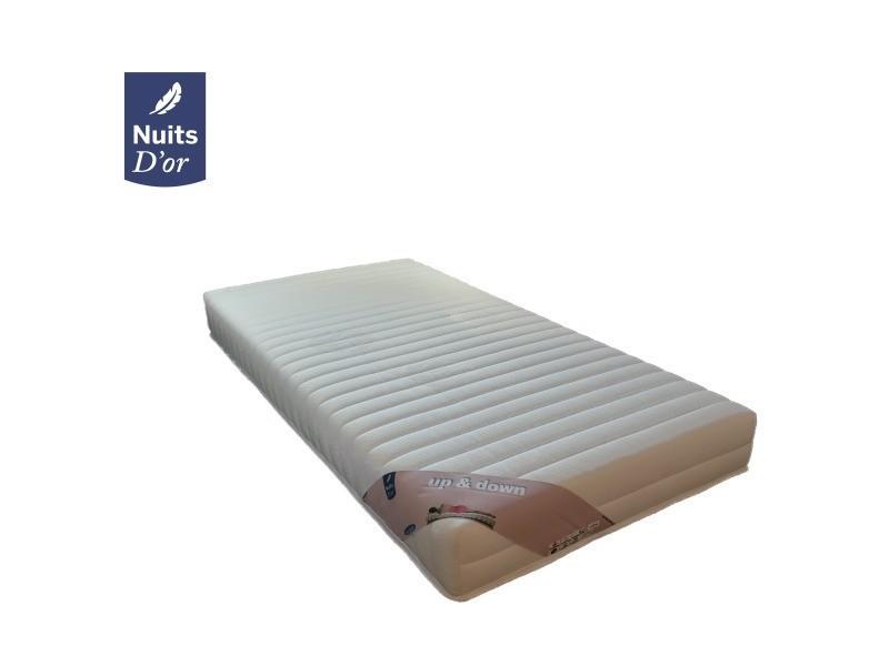 Matelas 80x200 pour sommiers articulés mousse hr 35 kg/m3 - 18 cm soutien très ferme 80 x 200 up + protège matelas offert 04-250-Up80x200P