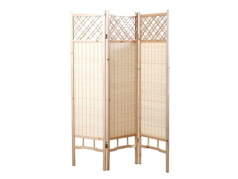 Paravent Japonais En Sapin Et Bambou New Niha Vente De