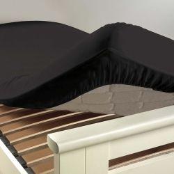 Drap housse coton 57 fils noir 90 x 190 cm