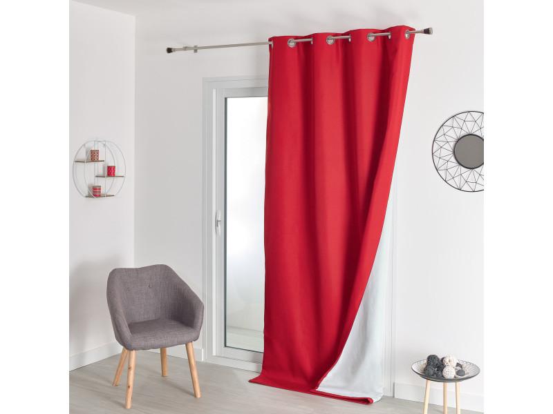 Rideau isolant phonique et thermique - 140x260cm - rouge