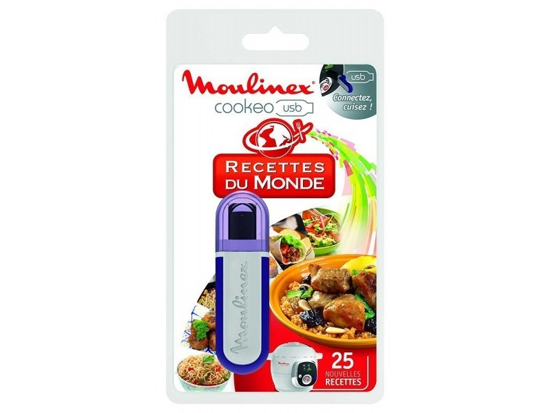 Moulinex clé usb cookeo 25 recettes monde réf. Xa600111