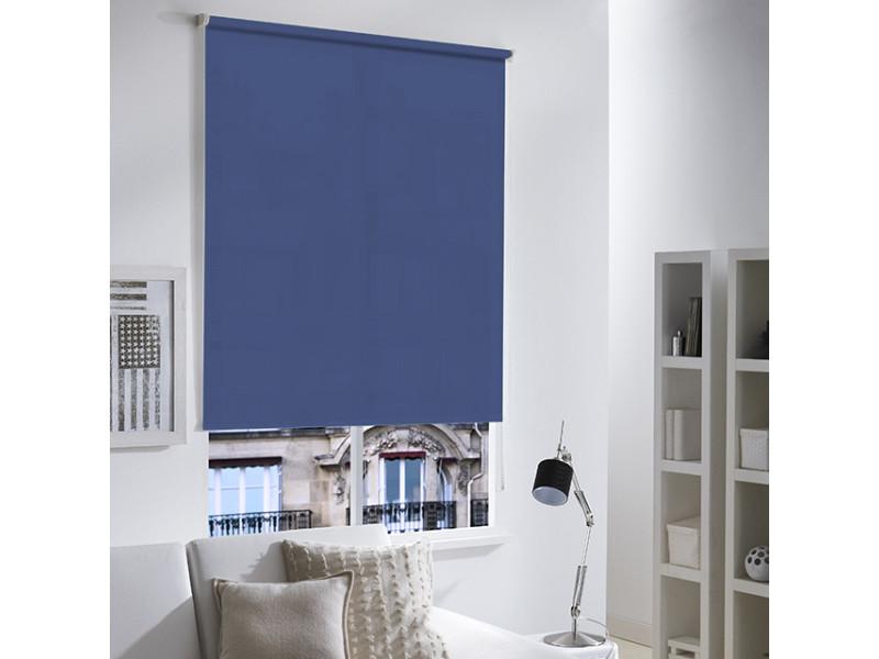 Store enrouleur tamisant uni - 60 x 190cm-bleu foncé