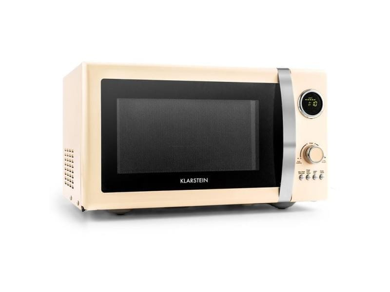 Klarstein fine dinesty four micro ondes 23l 800w grill 1000w -creme