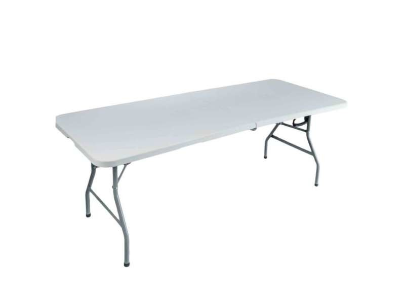 Table pliante rectangulaire 240 x 76 x 74 cm - Vente de Salon de ...