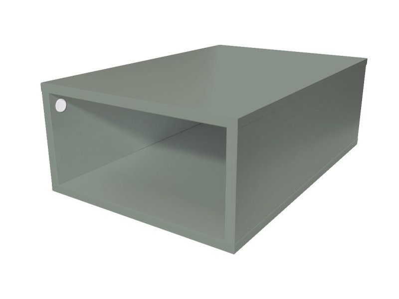 Cube de rangement bois 75x50 cm gris CUBE75-G