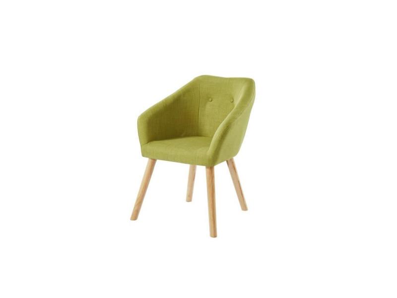 Hilda fauteuil - tissu vert - scandinave - l 62 x p 60 cm