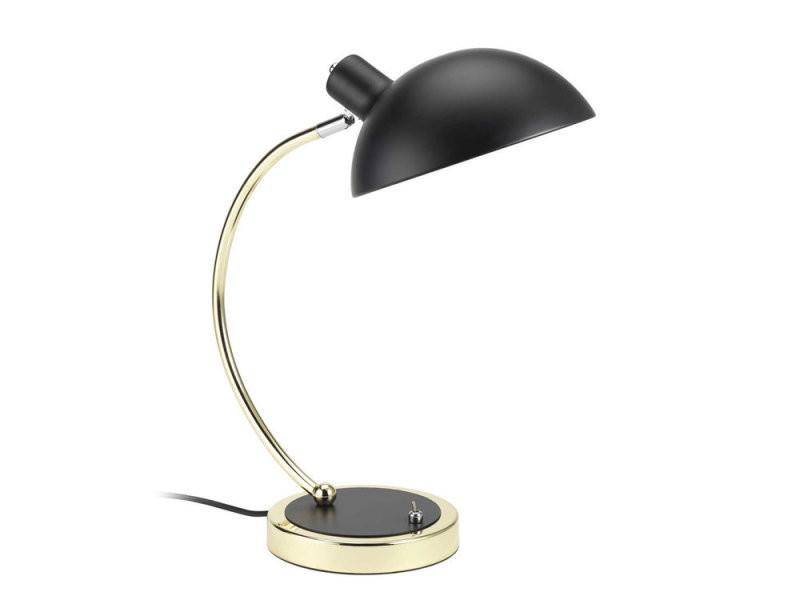 Lampe de bureau arc en métal noir et doré nevio vente de lampe