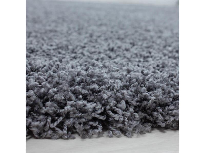 Bobochic tapis shaggy mana gris 160x230