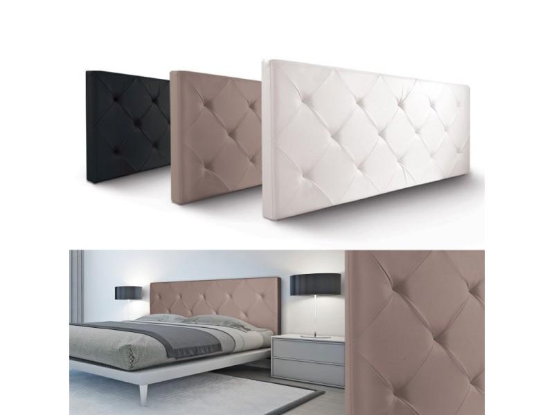 t te de lit capitonn e pvc taupe 160x58 cm vente de id. Black Bedroom Furniture Sets. Home Design Ideas