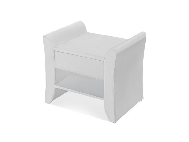 Table de chevet nova - table de nuit - design - blanc