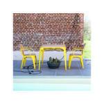 Table d'extérieur en métal et saule 90 sam jaune