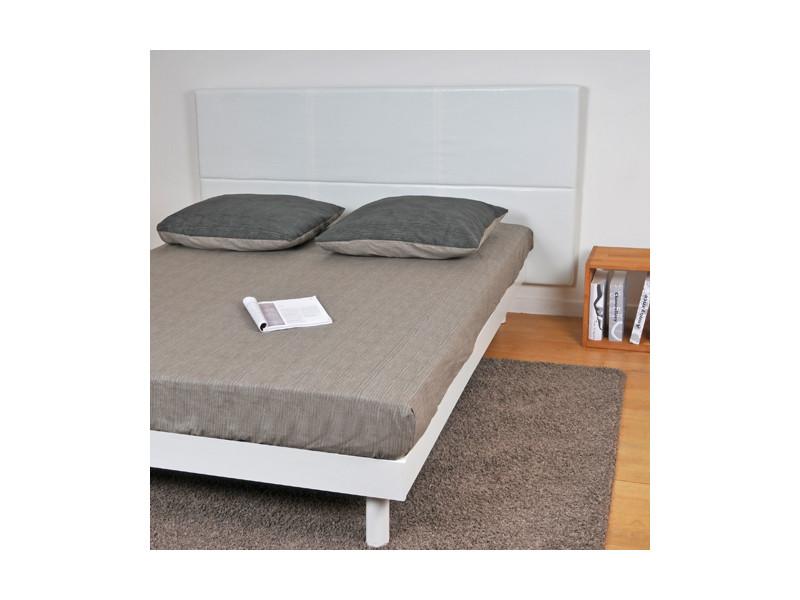 t te de lit 140 blanc 03349 vente de t te de lit conforama. Black Bedroom Furniture Sets. Home Design Ideas