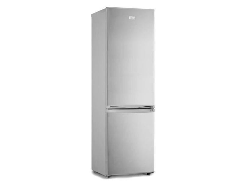 Réfrigérateur congélateur bas 262l, low frost, classe a+, silver, l 54 cm x h 176 cm OCEAFC262S