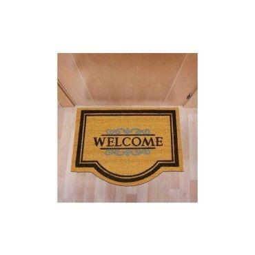 tapis chambre paillasson coco classic welcome beige 60 x 80 cm paillassons par unamourdetapis. Black Bedroom Furniture Sets. Home Design Ideas