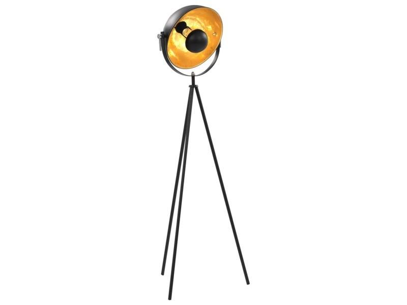 Joli luminaires collection tripoli lampadaire e27 noir et doré 31 cm