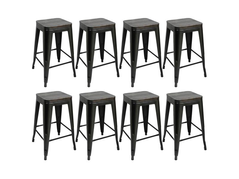8 pcs chaises de bar,tabourets hombuy pour bistrot/ cuisine/ jardin/ restaurant