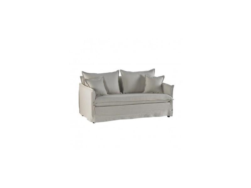 Canapé 2 places tissu beige slow 172 cm