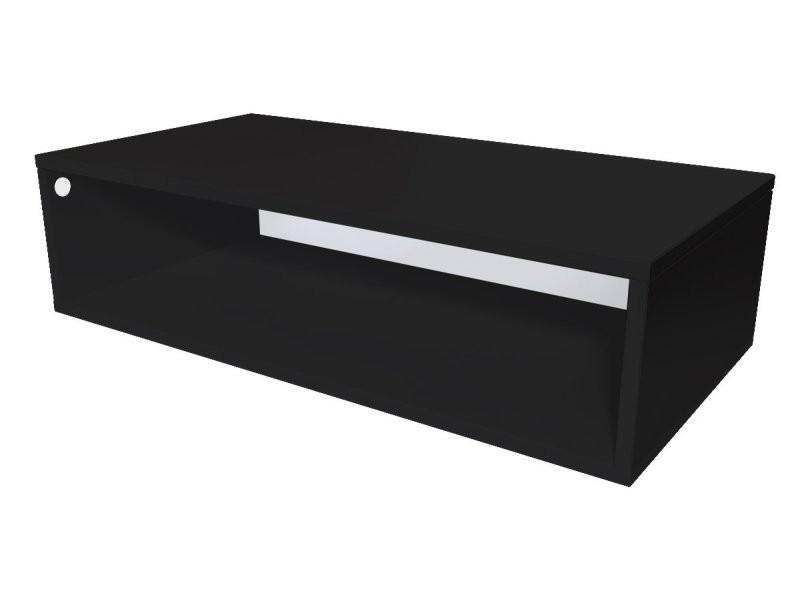 Cube de rangement bois 100x50 cm noir CUBE100-N