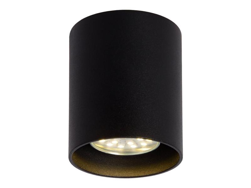 Plafonnier design cylindrique noir malicia lp vente de