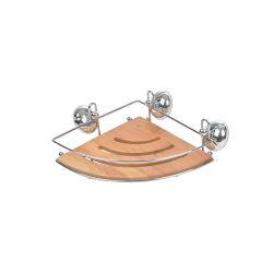 Serviteur d'angle en métal et en bambou 1 niveau
