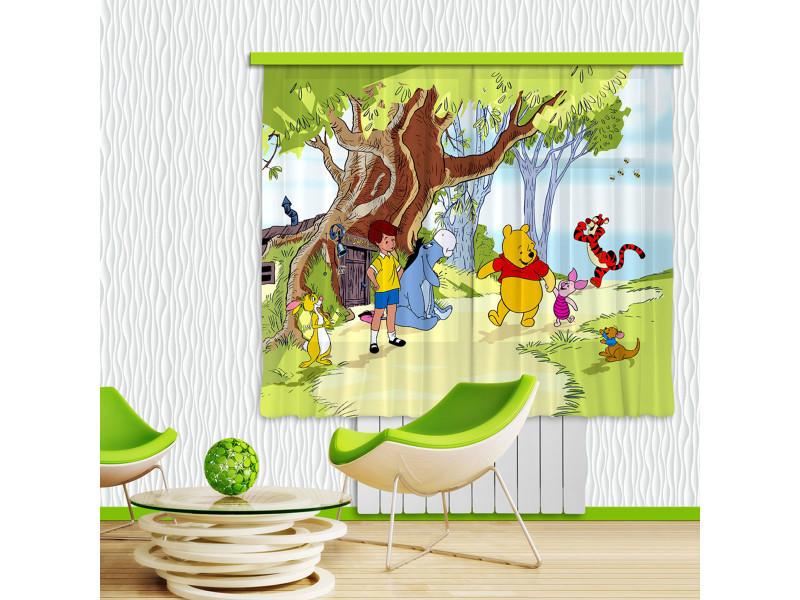 Rideaux winnie l\'ourson et ses amis disney-standard : 180x160 cm ...