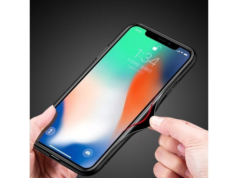 coque iphone xr noir miroir