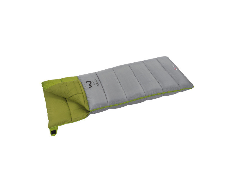 Sac de couchage de camping gris et vert 15° carnac xl 101233
