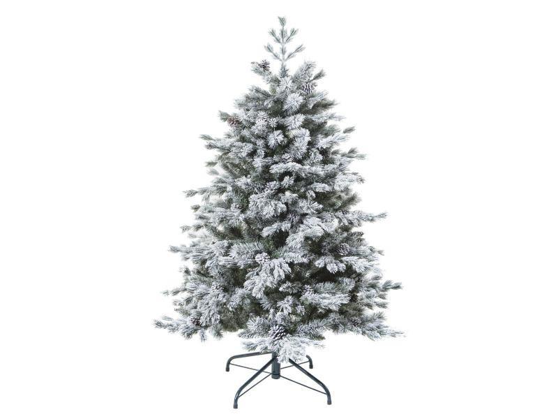 Feeric christmas - sapin de noël artificiel vert floqué enneigé qualité premium h 150 cm collection yukon