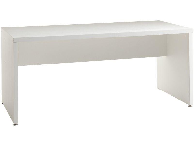 Bureau contemporain 160 cm coloris blanc p 12536 co faster vente