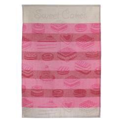 Torchon de cuisine toile 50x70 cm cakes rose