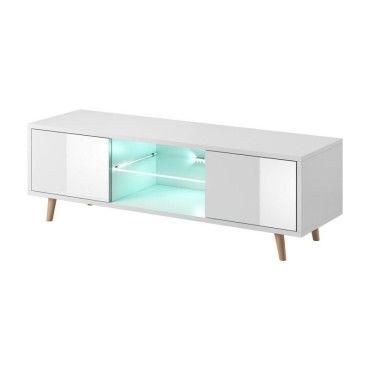 meuble tv design eden 140 cm 2 portes et 2 niches. Black Bedroom Furniture Sets. Home Design Ideas