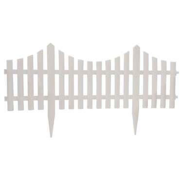 Barrière de jardin blanche 60x32.5cm 4pc - Vente de Brise vue ...