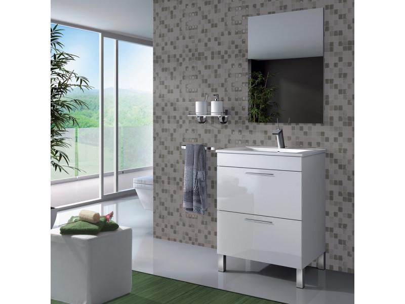 set de meuble sous lavabo avec 1 porte lavabo blanc. Black Bedroom Furniture Sets. Home Design Ideas